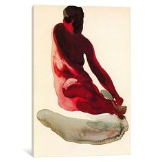 iCanvas Nude Series (Seated Red) Gallery Wrapped Canvas Art Print by Georgia O'Keeffe