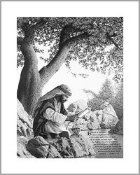 """Lyle Trimmer, Inspirational Pencil Art - Gallery """"the disciple"""" Pencil Art, Pencil Drawings, Christian Artwork, Christian Friends, Walk By Faith, Trees To Plant, Gods Love, Meditation, Art Gallery"""