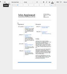 Create An EyeCatching Resume In Google Docs  Job Search