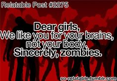 funny girls girl quote quotes pictures humor picture pic jokes zombies joke pics zombie girl quotes
