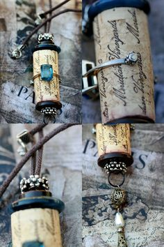 cork necklace/ how 'bout for a light pull?