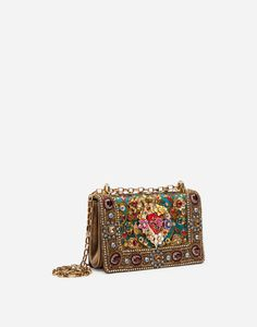 DG GIRLS BAG IN ORNAMENTAL JACQUARD WITH EMBROIDERY AND APPLIQUÉS Dolce & Gabbana, Dolce And Gabbana Bags, Fashion Bags, Fashion Accessories, Women's Fashion, Girls Bags, Cute Bags, Luxury Bags, Purses And Handbags