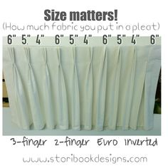 "Photo: The amount of #fabric you plan for each pleat makes a difference. 6"" is…"