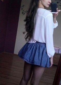 Kup mój przedmiot na #vintedpl http://www.vinted.pl/damska-odziez/spodnice/11764767-niebieska-krotka-dziewczeca-spodniczka-hm