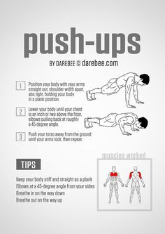 Then learn exactly how to actually do a real push-up.   16 Super-Helpful Charts That Teach You How To Actually Work Out