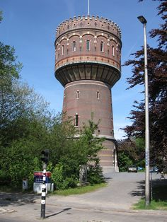 Water Tower in Delft, Holland, The Netherlands - photo by Michiel1972, via rijksmonumenten; Built in 1895, the water tower is 95 feet tall.
