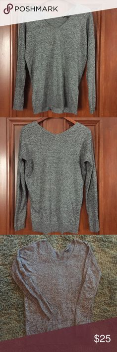 Express Long Sleeve Sweater ✨ Beautiful long sleeve sweater from Express. Gorgeous black and grey tones to match with any outfit. Can be worn casual or dresses up for a night out. Size medium. Always open to offers! ✨💕 Express Sweaters V-Necks