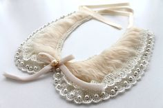 Peter Pan Collar bib statement Cluster jewelry by BridalLife