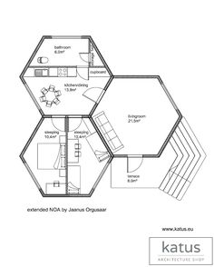 Family Bunker Plans 704531935442951519 - Source by House Plans And More, Tiny House Plans, House Floor Plans, Modern Architecture House, Futuristic Architecture, Interior Design Magazine, Best Interior Design, Hexagon House, Eco Construction