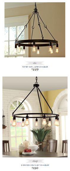 Copy Cat Chic Find | POTTERY BARN JASPER CHANDELIER vs OVERSTOCK SHEA 9-LIGHT CHANDELIER
