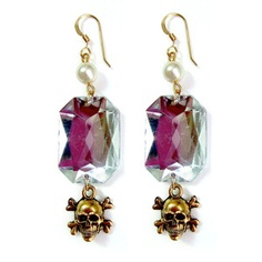 Jewel And Skull Earrings Crystal now featured on Fab.  FUN
