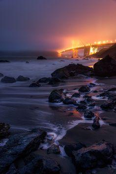 Marshall Beach. California, San Francisco by Evgeny Tchebotarev