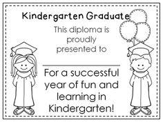 Kindergarten or Preschool Graduation Diploma~ Editable {Freebie}