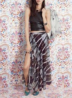Spring Fashion - Crop Top & Maxi Skirt