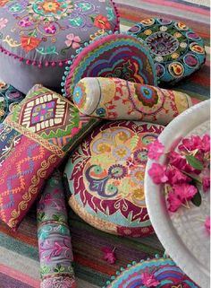 These bohemian pillows are amazing! Perfect scatter cushions for the bed.
