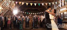 vintage barn wedding dance