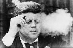 JFK-Cigarsmokers-Most Famouse Cigar Smokers-Most Iconic Cigar Smokers-Cigarconexion