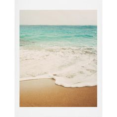Ombre Beach Art Print ❤ liked on Polyvore featuring home, home decor, wall art, backgrounds and filler