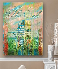 This The End Lifeguard Chair Wall Art by Patrick Reid O'Brien's My Town Art is perfect! #zulilyfinds