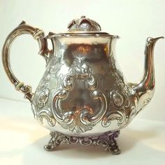 English 1880s Silver Plated Tea Pot  Antique by TheVicarsStudy