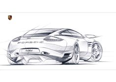 Porsche car design sketching