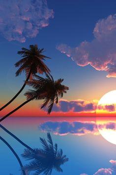 Akşam Üstü Fotoğrafı; Hawai'den Harika Gün Batımı...!