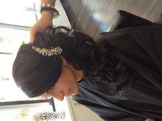 Bridal side updo #cupcakedreamwedding