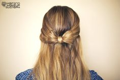 Hair and Make-up by Steph: How To: Hair Bow SO EASY!!!!!!!!!!!!!!!!!!!!! Very cute! Love It!