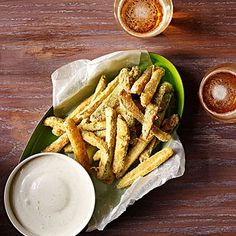 "Fried Pickles - I like the idea of ""French fry"" style julienne cut pickles - I like a little breading and a lot of pickle in my fried pickles!"