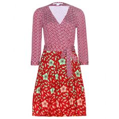 Diane von Furstenberg - Printed Jewel wrap dress - mytheresa.com