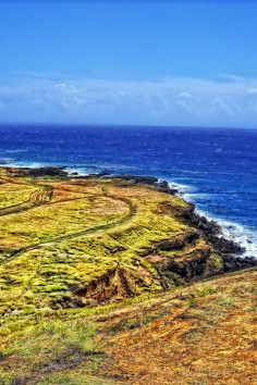South Point Cliffs in Ka Lae Hawaii is great for jumping off cliffs into a clear ocean.