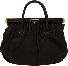 Merci Marie Women's Leather Handbag Dark Brown #merci #marie #handbags