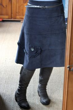 Cord Skirt (Barcelona Tiered Skirt) by Fiona Beckman, via Flickr