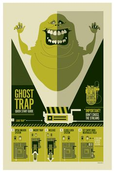 Ghostbuster poster by French Illustrator Strongstuff aka Tom Whalen