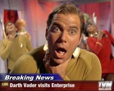 """Darth Vader visits the USS Enterprise"" Hilarious!"