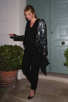 Kate Moss Harem Pants - Kate Moss rocked the harem pants trend while out in London.