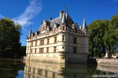 """Château d'Azay-le-Rideau Relatively small and out-of-the-way, Château d'Azay-le-Rideau on the Indre River is, nevertheless, one of the most celebrated castles in the Loire Valley, and Balzac even called it the """"Diamond of the Indre."""" With its gorgeous moat and Italian Renaissance interior, the château is known especially for the rare 16th- and 17th-century Flemish tapestries that depict life in Renaissance Europe. Best Loire Valley castles"""