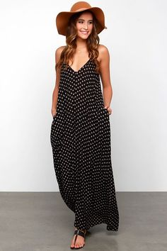 Women Summer Boho Long Maxi Dresses Casual Dots Beach Dress ...