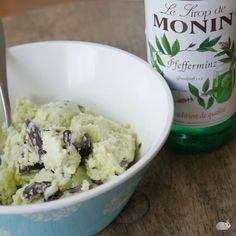 selbst gemachtes Schoko-Minz Eis