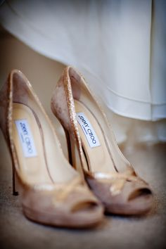 Image by Blink Photography. Bridal accessories. Suede Jimmy Choo shoes. Blush wedding shoes. Wedding shoes. Jimmy Choo.