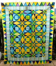 Storm at Sea beach quilt top | Flickr - Photo Sharing!
