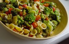 Roasted Broccoli Pasta Salad with Lemon-Caper Dressing and Parmesan