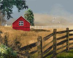 Red Barn  8x10 Farm Art Print  Farmhouse by RedCreekDesignCo, $18.00