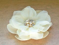 Hey, I found this really awesome Etsy listing at http://www.etsy.com/listing/161401972/bridal-hair-clip-ivory-satin-chiffon