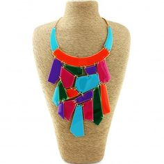 Color Block Bib Statement #Necklace. Color blocking is a great way to capture an abstract look! Beautiful hues of blue, green, orange, pink, and purple accents are flaunted in this statement bib necklace, creating a jaw-dropping masterpiece. DETAILS: http://www.lolafashionaccessories.com/products/Color-Block-Bib-Statement-Necklace.html $36