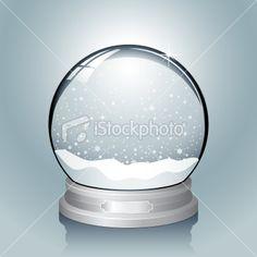 Silver Snow Globe Royalty Free Stock Vector Art Illustration