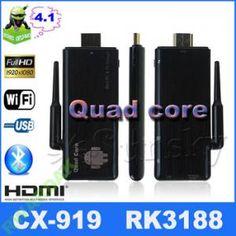 POLECANYrazem z Pytanie co wybrać codziennie i non stop to samo i odpowiedź ta sama przecież wyraźnie napisane mk808 cx919 kr - 42 CX-919 Rockchip RK3188 Quad Core 2/8 Android