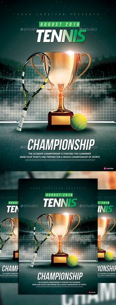 Tennis Championship Flyer Tennis Championships Tennis And Flyer