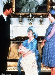 Prince Charles the Prince of Wales with Queen Elizabeth II and the Queen Mother at the christening of baby Prince William at Buckingham Palace London in August 1982 London In August, Buckingham Palace London, Baby Prince, Baby George, Queen Mother, Prince Of Wales, Prince Charles, Queen Elizabeth Ii, Christening