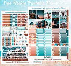 Free Planner, Happy Planner, Planner Ideas, Erin Condren Monthly Planner, Silhouette Cameo Tutorials, Printable Planner Stickers, Free Printables, Arc Notebook, Personal Planners